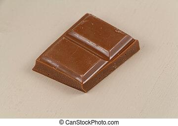 Piece of milk chocolate
