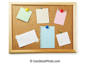 Piece of note paper on brown background
