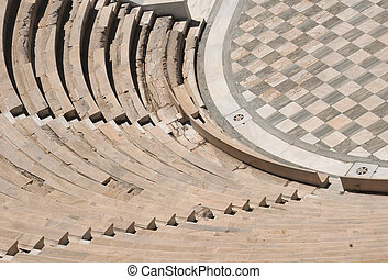 Piece of Odeon in Athens