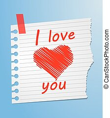 Piece of paper love you