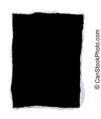 Piece of Paper with Torn Edges - Black blank piece of paper ...
