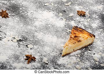 Piece of pear pie