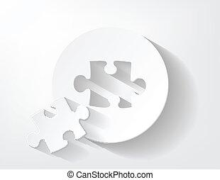 Piece of puzzle paper