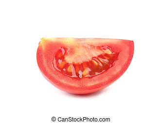 Piece of red ripe tomatoes