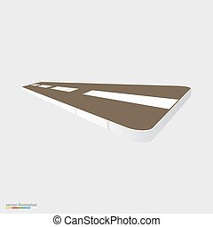 Piece of road vector illustration