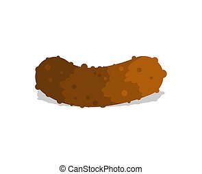 Piece of shit isolated. Turd vector illustration