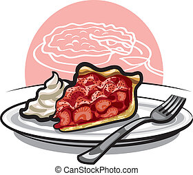 strawberry pie - piece of strawberry pie