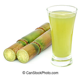 Piece of sugarcane juice