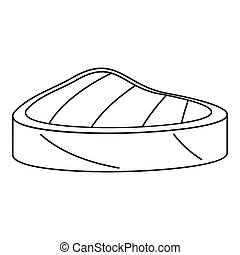 Piece tuna icon, outline style