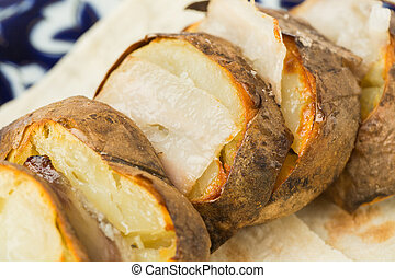 pieces of baked potatoes