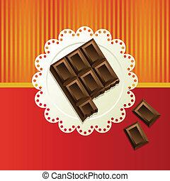 Pieces of dark chocolate