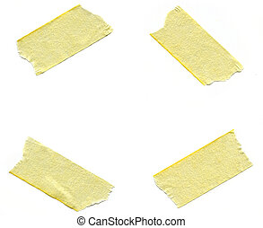Pieces of Masking Tape - Four pieces of masking tape over...