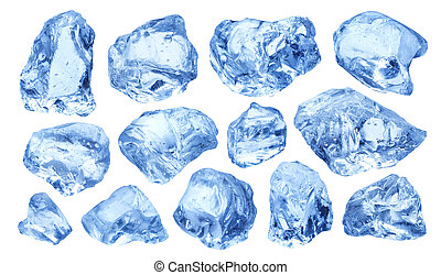 Pieces of natural ice