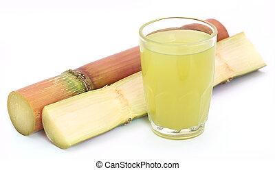 Pieces of sugarcane juice