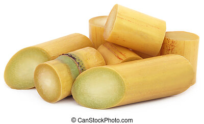 Pieces of sugarcane