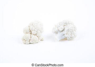 Pieces of the fresh cauliflower