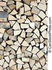 pieces of wood for ecological heating