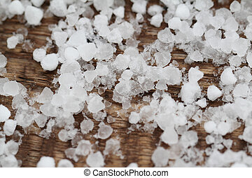Pieces with salt