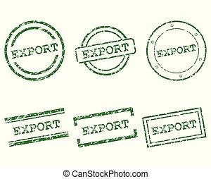 pieczęcie, eksport