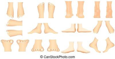 pied, humain