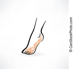 pied, icône