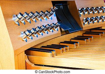 pied, orgue, commandes