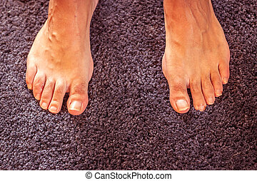 pied, photo, humain
