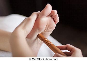pied, reflexology, masage
