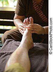 pied, spa, thaï, masage