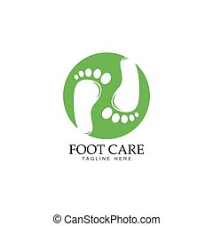piede, logotipo, disegno, sagoma, cura