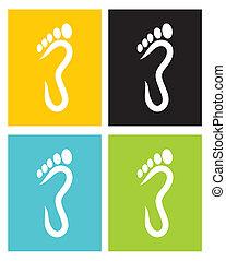 piede, simbolo