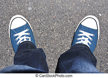 piedi, scarpe tennis