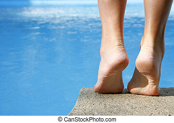piedi, stagno