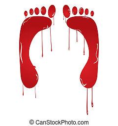 piedi, tracce