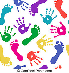 piedi, vernici, stampe, mani