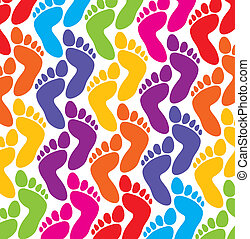 piedi, vettore, colorito, fondo