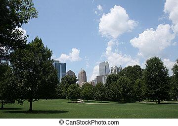 Piedmont Park - Atlanta Skyline From Piedmont Park
