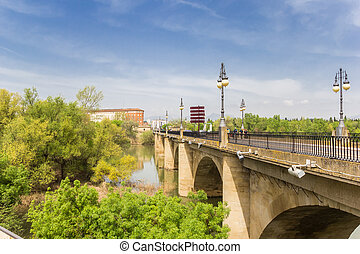Piedra bridge in the historic center of Logrono