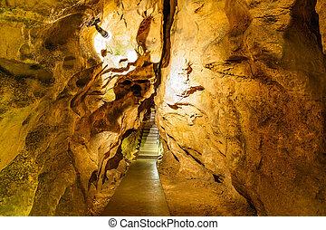 piedra caliza, cueva, sistema