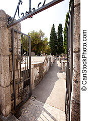 piedra, cementerio