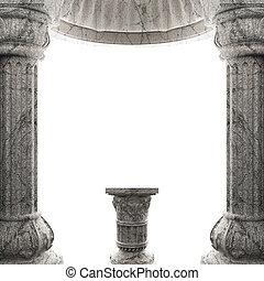 piedra, columna