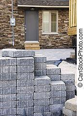 piedra, se trabar, entrada de coches