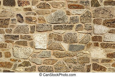 piedra, viejo, pared, seamless, textura, ashlar, plano de ...