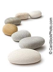 piedras, aislado, en, el, fondo blanco