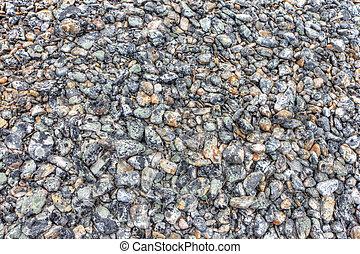 piedras, con, musgo