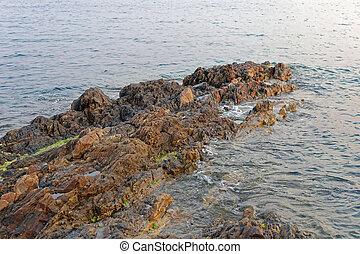 piedras, costa
