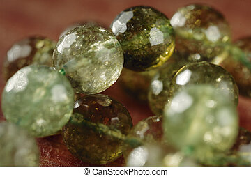 piedras, natural, nephrite, jade, verde, beads., mineral