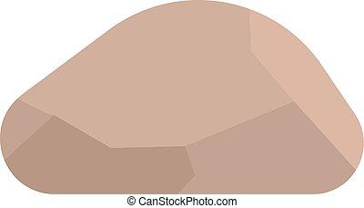 piedras, vector, ilustración, rocas