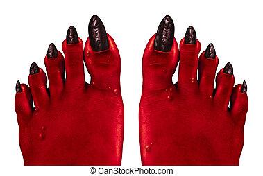 pieds, diable
