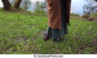 pieds, filles, nature
